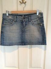 Topshop Denim Mini Skirt, Size 8, VGC