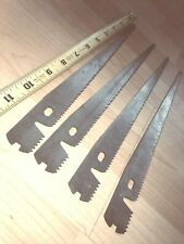 (Four) Allway Master Saw Blades Fits Disston Stanley Turret 12G 8-Tpi