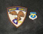 USAF AF OPERATION DESERT SHIELD PATCH & DESERT STORM SWA YELLOW RIBBON PIN SET