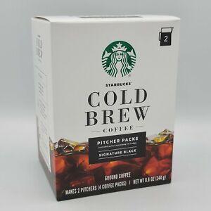 Starbucks Cold Brew Coffee Signature Black Pitcher Packs 8.6oz Home Cold Brew
