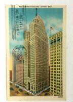 Detroit Michigan Penobscot Building Vintage Postcard
