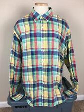 Polo Ralph Lauren 100% Linen Long Sleeve Button Shirt Men's Size XXL