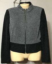 Jones New York Jacket Size 8 Charcoal Multi Polyester Viscose Dry Clean NWT $179