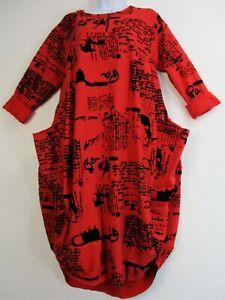 LAGENLOOK ITALIAN WINTER WEIGHT 95% COTTON DRESS 10 COLOURS ONE SIZE: PLUS:16-20