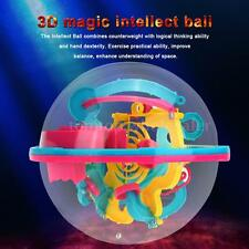 3D Spherical Maze Intellect Ball Balance Game Magical Puzzle w/100 Barriers M9O5