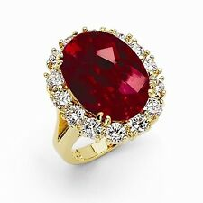 Jackie Kennedy Simulated Ruby Ring Red Swarovski Elements Camrose& Kross Size 9