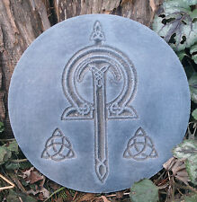 MOLD plastic plaque Gothic Pagan Wicca Celtic casting mold flame plaque mould