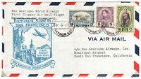 1947 Thailand Siam Airmail Pan Am Airways 1st Flight Bangkok-San Francisco USA