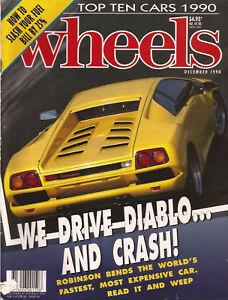 Wheels Dec 90 Diablo MX5 E34 M5 Saab 9000 Caravelle