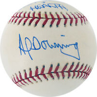 AL DOWNING SIGNED BEST OF LIFE & HEALTH  OML BALL NY YANKEES LA DODGERS BREWERS