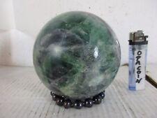 Fluorite Pietra Sfera 1 a qualità con Tahiti perla piede Madagascar 1970 11cm 2 kg