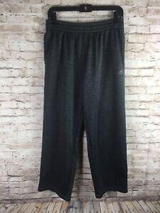 Adidas Mens Size Large Heather Gray Straight Leg Sweatpants