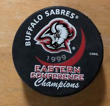 Vintage Buffalo Sabres Hockey Puck 1999 Eastern Conference Champions Slovakia