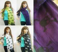 Wholesale lot of 24 Skull and Bones Print Stylish Scarf Hipster, Boho Chic Sale