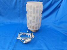 Lampe 1950 Design Vintage, en verre moulé - lamp pressed glass  -