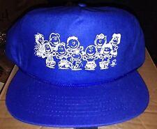 VTG SNOPPY WOODSTOCK CHARLIE BROWN PEANUTS CARTOON 1980'S SNAPBACK HAT CAP