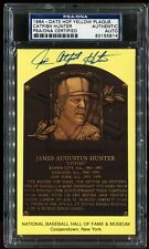 1964 Date HOF Yellow Plaque Postcard CATFISH HUNTER Auto Autograph PSA/DNA