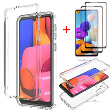 For Samsung Galaxy A21 Clear Case Shockproof Phone Cover Full Screen Protector