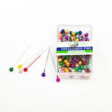 100pcs 3.5cm Mini Round Bead Shaped Hijab DIY Safety Pins Positioning Needles