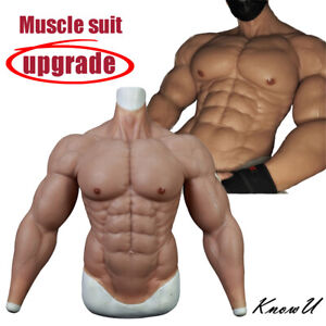 KnowU Upgrade Silicone Muscle Suit Fake Muscle Chest For Cosplay Stronger