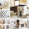 Wäschekorb Korb für Spielzeug Natur Faltbar Box Korbtasche Design Beutel Sack