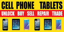 3'x6' CELL PHONES TABLETS BANNER SIGN   IPHONE REPAIR FIX SCREEN SELL BUY UNLOCK