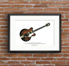 George Harrison's 1962 Chet Atkins Country Gentleman ART POSTER A3 size