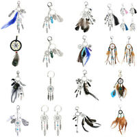 Dreamcatcher Boho Fashion Keychain Bag Decoration Feather Tassel Pendant Charm