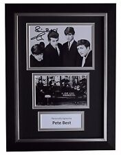Pete Best SIGNED A4 FRAMED Autograph Photo Display Beatles Music AFTAL & COA