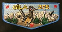 GILA OA LODGE 378 BSA YUCCA COUNCIL CHINESE ZODIAC YOU (ROOSTER) ROADRUNNER FLAP