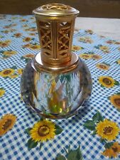 LAMPE BERGER  Diamond cut glass round lamp fragrance oil burner . Gorgso is.