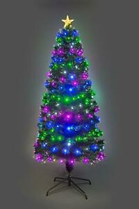 7ft LED Fibre Optic Christmas Tree Remote Controlled Pre-lit Xmas Decorations