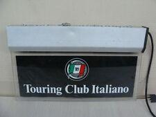 INSEGNA LUMINOSA TOURING CLUB ITALIANO CTI AUTO EPOCA FIAT LANCIA ALFA ROMEO