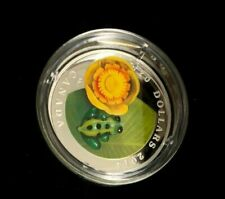 2014 Canada $20 Fine Silver Coin - Water-Lily and Leopard Frog