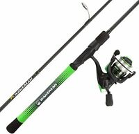 """Fishing Rod and Reel Combo- 6'6"""" Carbon Pole, Spinning Reel and Golf Grip"""