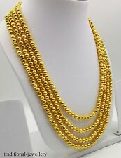 4 LINE FOUR LAYER GOLD BALL STRING NECKLACE BALL CHAIN ANTIQUE STYLE JEWELRY