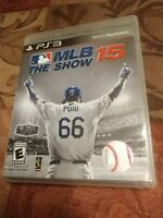 MLB 15: The Show (Sony PlayStation 3, 2015) PS3 Game and Case