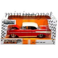 JADA 98944 BIGTIME MUSCLE 1957 57 CHEVROLET BEL AIR 1/24 DIECAST MODEL CAR RED