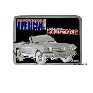 Ford Mustang Gürtelschnalle Belt Buckle american 60s 70s muscle car classic *294