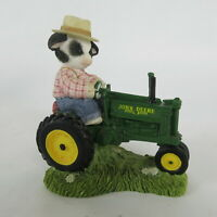 Mary's Moo Moos John Deere Through The Years Model G Tractor Boy Figurine Cow