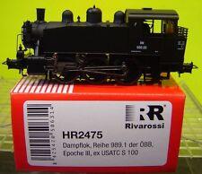 "Rivarossi HO HR2475 Dampflok Reihe 989.1 ÖBB ex USATC S100 Ep.III ""Neu""(AND)"