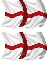 set of 2 sticker st georges flag vinyl car decal macbook self adhesive england