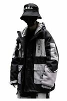 Niepce Streetwear Jacket Winter Warm Parka Japanese Kanji I-Tech Down Trenchcoat