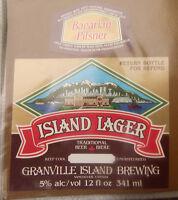 VINTAGE CANADIAN BEER LABEL - GRANVILLE ISLAND BREWERY, ISLAND LAGER
