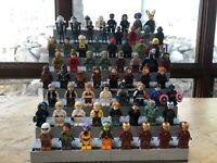 Lego Mini-figure Display Stand Custom, Star wars, City, Harry Potter, Marvel, DC