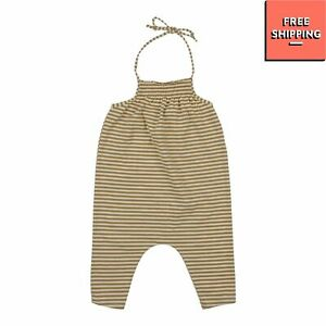 BABE & TESS Jersey Romper Size 9M Striped Made in Italy