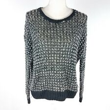 Ecote Urban Outfitters Sweater Loose Knit Oversize Black White Size Small