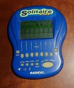 RADICA Solitaire Lite 1997 Backlit Handheld Electronic Game Tested Works