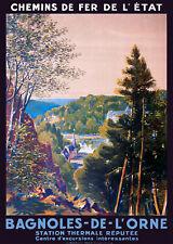 Affiche chemin de fer Etat - Bagnoles-de-l'Orne 2