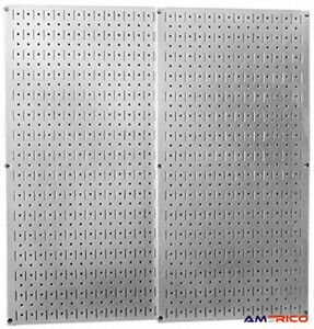 """2 Pack Galvanized Steel Pegboard Panels 32""""x16"""" Wall Mount Durable FREE SHIPPING"""